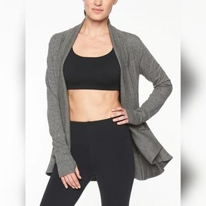 Athleta Pranayama Wrap Small Gray.          A20HNG